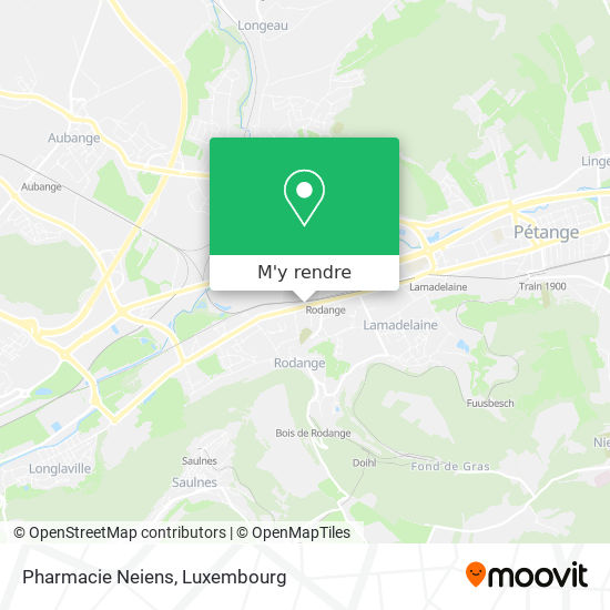 Pharmacie De Rodange Neiens Thierry plan