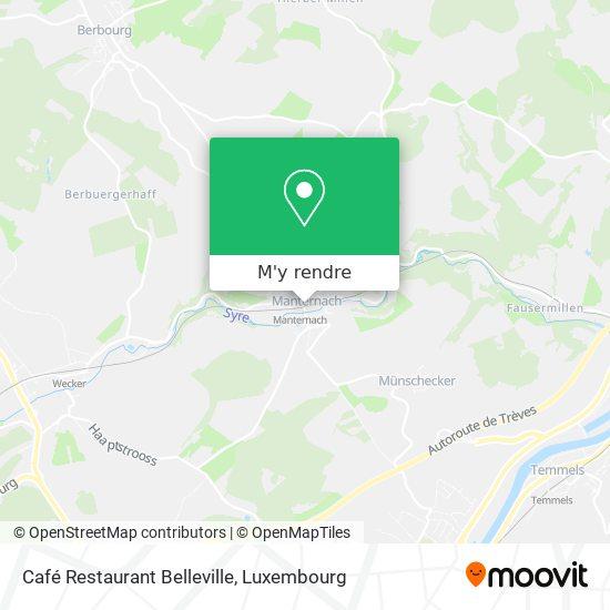 Café Restaurant Belleville plan
