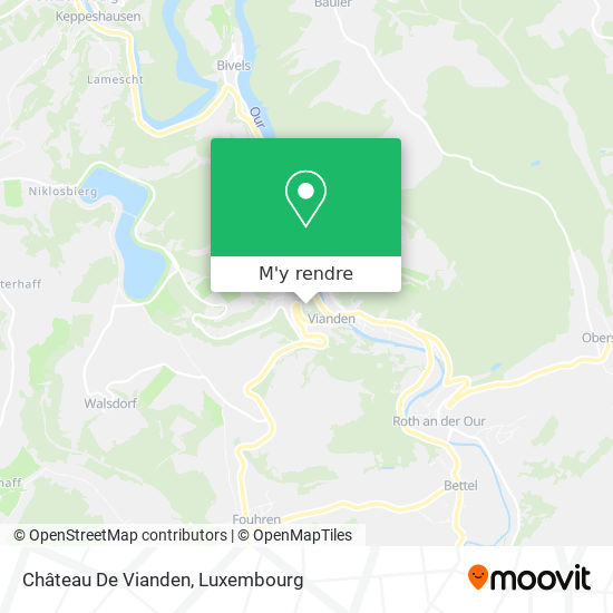 Château De Vianden plan