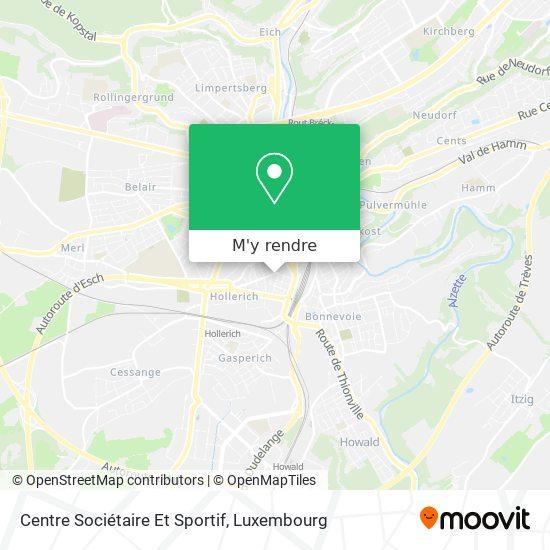 Centre Sociétaire Et Sportif plan