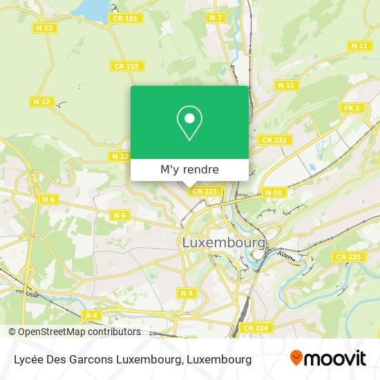 Lycée Des Garcons Luxembourg plan