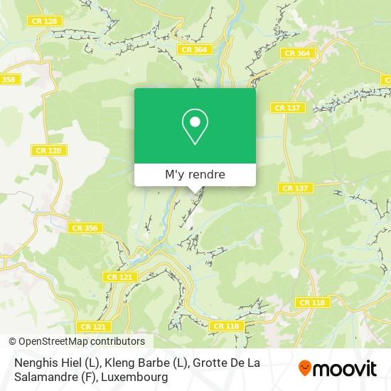 Nenghis Hiel (L), Kleng Barbe (L), Grotte De La Salamandre (F) plan