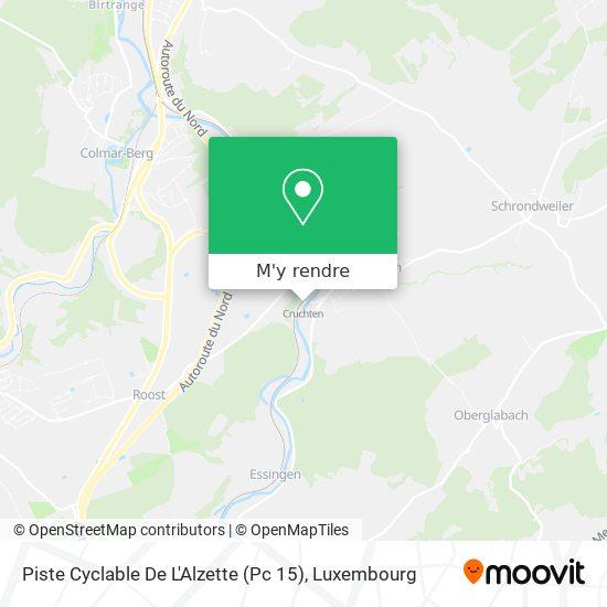 Piste Cyclable De L'Alzette (Pc 15) plan