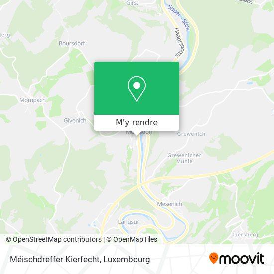 Cimetière De Moersdorf plan