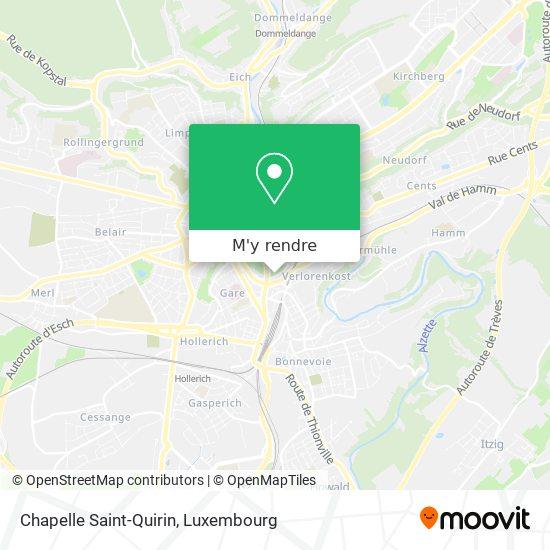 Chapelle Saint-Quirin plan