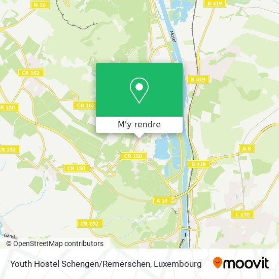 Youth Hostel Schengen / Remerschen plan