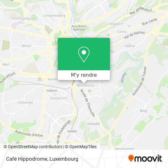 Café Hippodrome plan