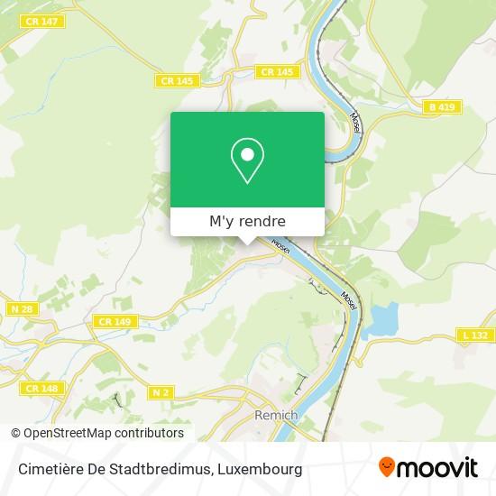 Cimetière De Stadtbredimus plan