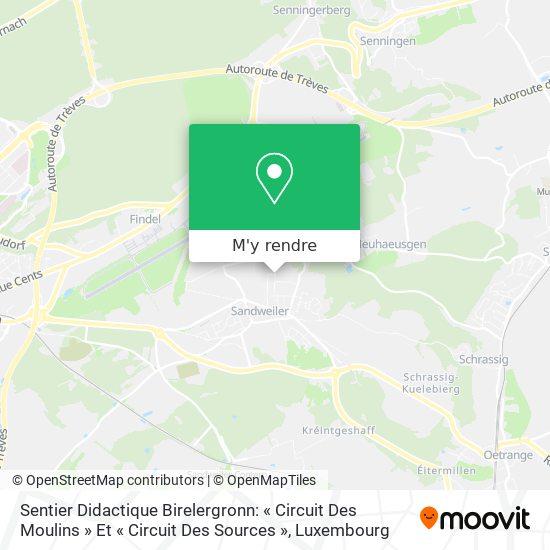 Sentier Didactique Birelergronn: « Circuit Des Moulins » Et «Circuit Des Sources» plan