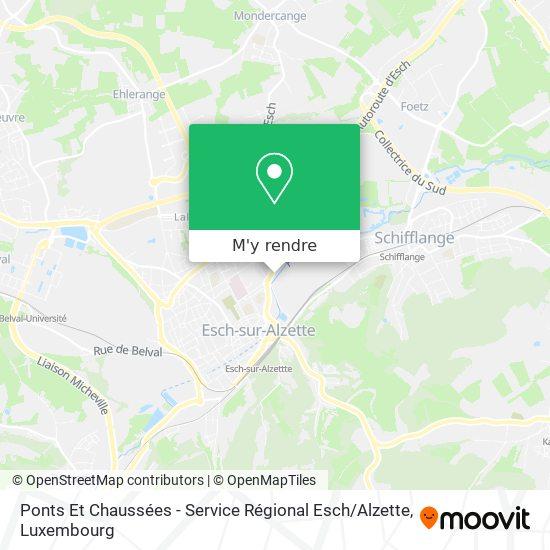 Ponts Et Chaussées - Service Régional Esch / Alzette plan