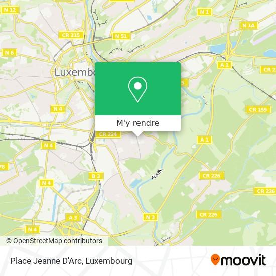 Place Jeanne D'Arc plan