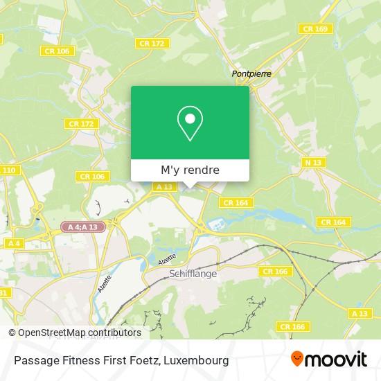 Passage Fitness First Foetz plan