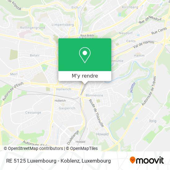 RE 5125 Luxembourg - Koblenz plan