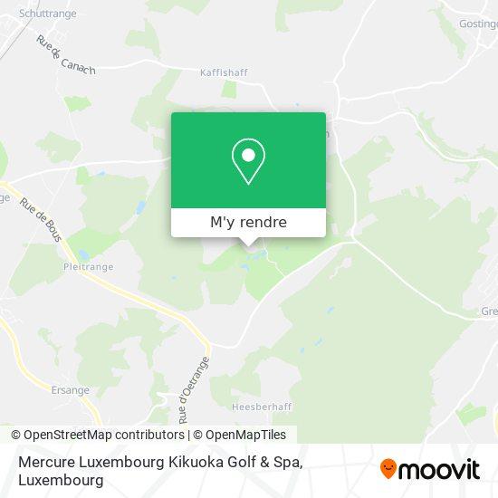 Mercure Luxembourg Kikuoka Golf & Spa plan