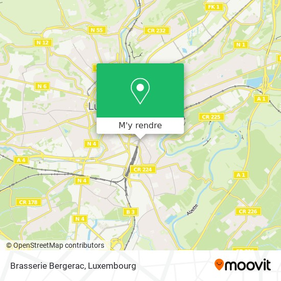 Brasserie Bergerac plan