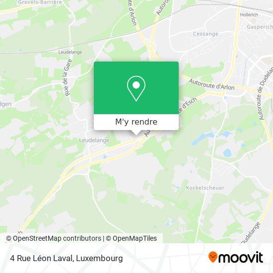 4 Rue Léon Laval plan