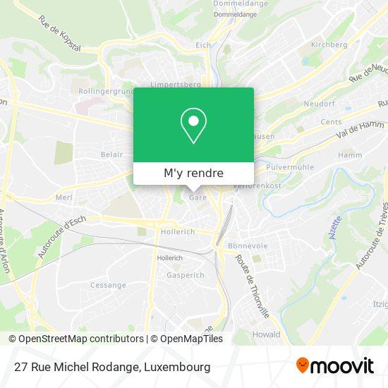 27 Rue Michel Rodange plan