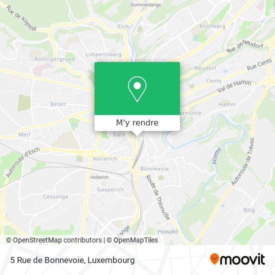 5 Rue de Bonnevoie plan