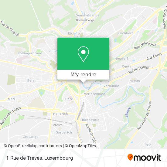 1 Rue de Treves plan