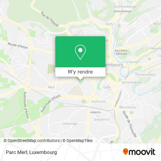 Parc Merl plan