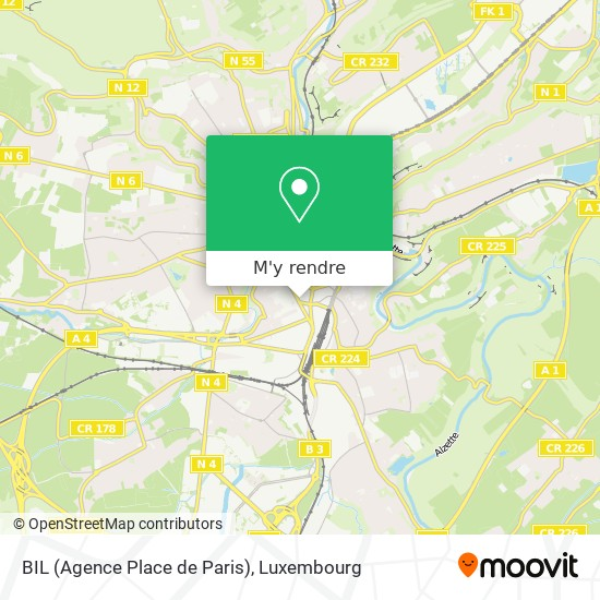 BIL (Agence Place de Paris) plan