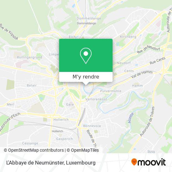 L'Abbaye de Neumünster plan