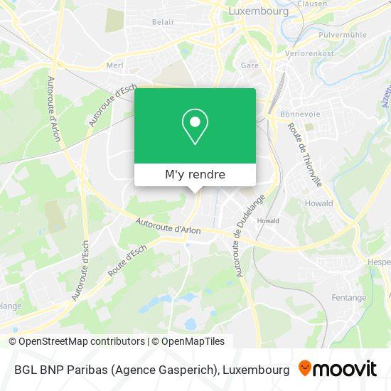 BGL BNP Paribas (Agence Gasperich) plan