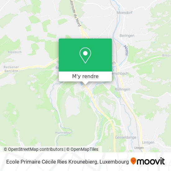 Ecole Primaire Cécile Ries Krounebierg plan