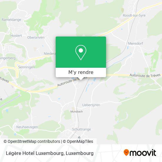 Légère Hotel Luxembourg plan