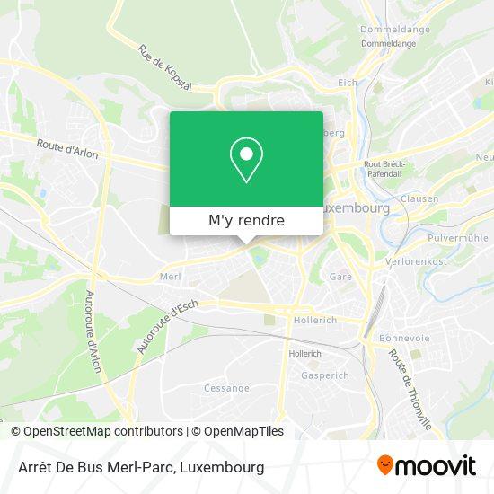 Arrêt De Bus Merl-Parc plan
