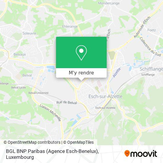 BGL BNP Paribas (Agence Esch-Benelux) plan
