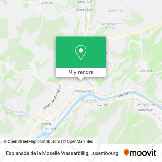 Esplanade de la Moselle Wasserbillig plan