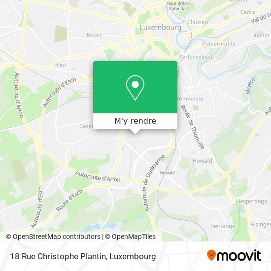 18 Rue Christophe Plantin plan