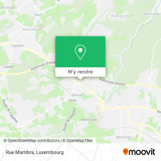 Rue Mambra plan