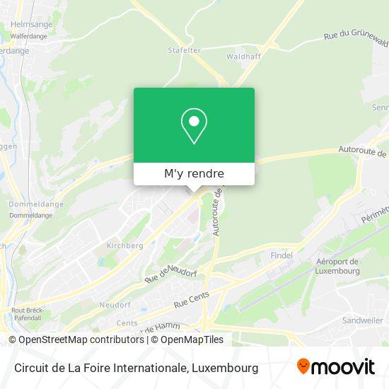 Circuit de La Foire Internationale plan