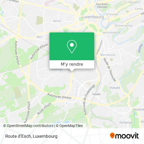 Route d'Esch plan