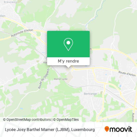 Lycée Josy Barthel Mamer (LJBM) plan