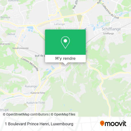 1 Boulevard Prince Henri plan
