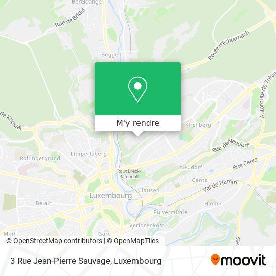 3 Rue Jean-Pierre Sauvage plan