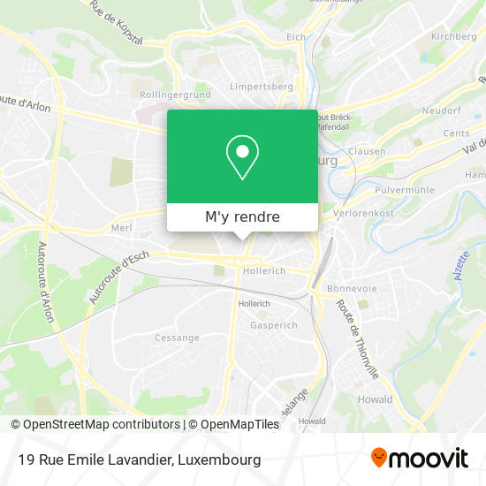 19 Rue Emile Lavandier plan