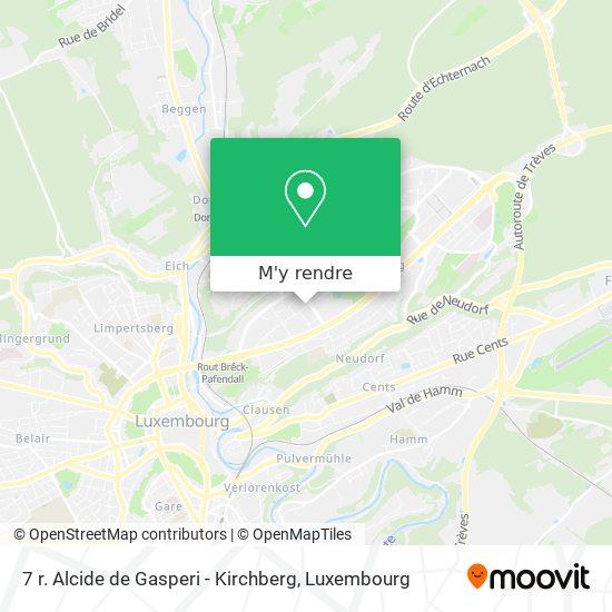7 r. Alcide de Gasperi - Kirchberg plan
