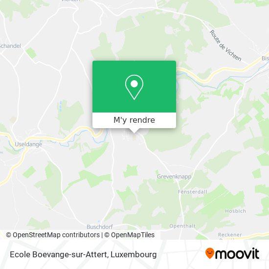 Ecole Boevange-sur-Attert plan