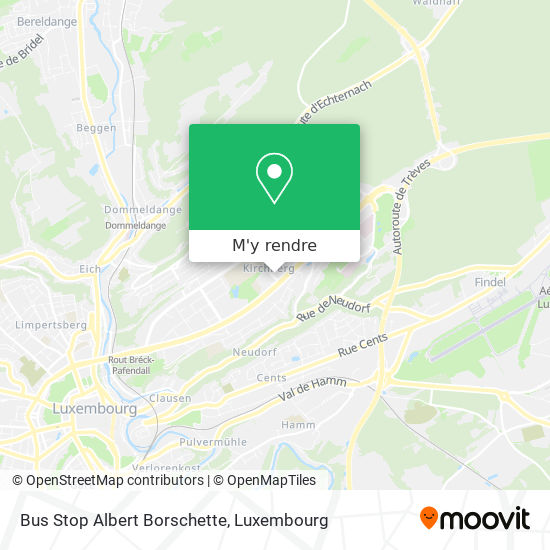 Bus Stop Albert Borschette plan