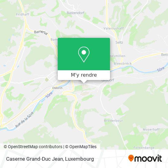 Caserne Grand-Duc Jean plan