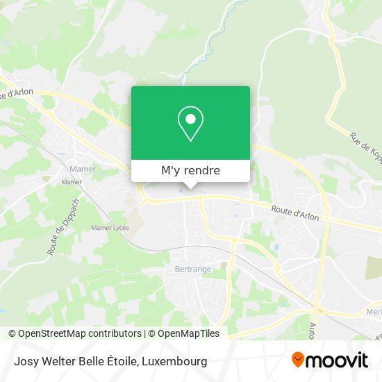 Josy Welter Belle Étoile plan