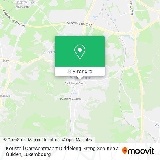 Koustall Chreschtmaart Diddeleng Greng Scouten a Guiden plan
