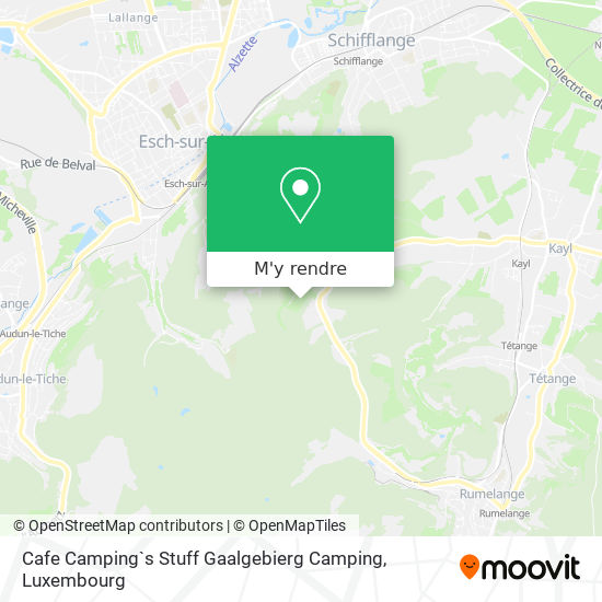 Cafe Camping`s Stuff Gaalgebierg Camping plan