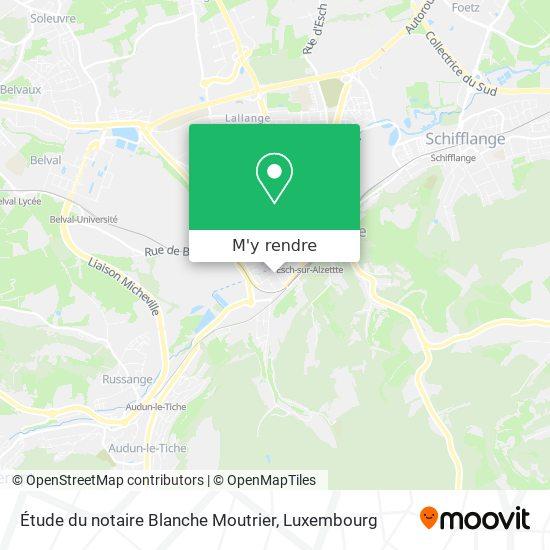 Étude du notaire Blanche Moutrier plan
