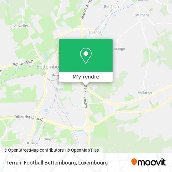 Terrain Football Bettembourg plan