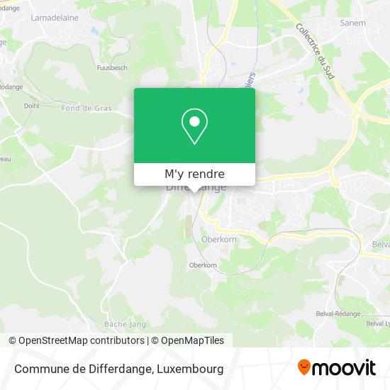 Commune de Differdange plan